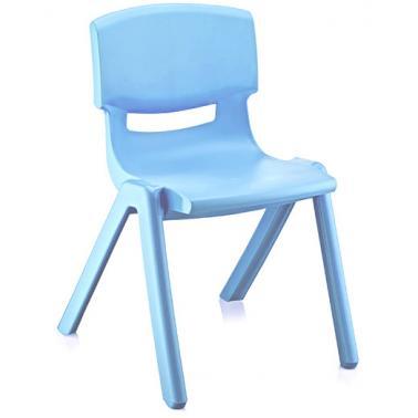 Пластмасово детско столче ДЖЪМБО светло синьо34х42х58см ИП-(CM-505)- Irak Plastik
