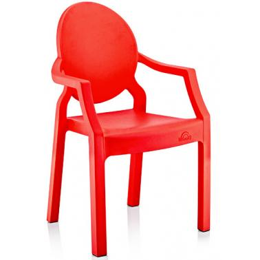 Пластмасово детско столче с подлакътникчервено 31x33x65см ИП-(CM-410)- Irak Plastik