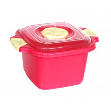 Пластмасова купа с капак квадратна №0 500мл. (SA-650)  -  Irak Plastik