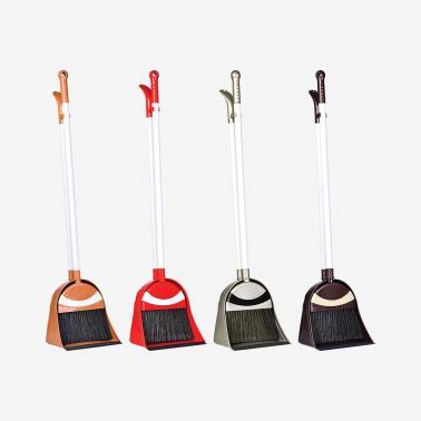 Пластмасова четка с лопатка с дълга дръжка различни цветови комбинации (TE-330) - Irak Plastik