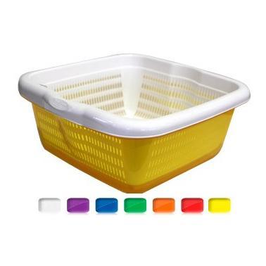 Пластмасова купа гевгир с подложка 7л. различни цветове (SG-235)  -  Irak Plastik