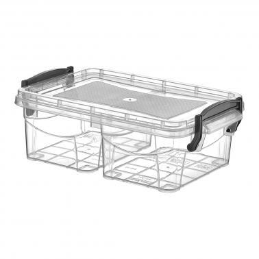 Пластмасова кутия контейнер две разделения №0 0.5л. (SA-347)  -  Irak Plastik