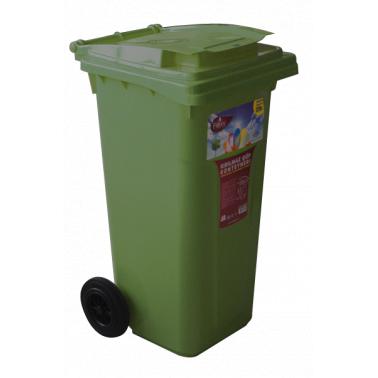 Пластмасов кош за отпадъци 120л. зелен (CK-404) -  Irak Plastik