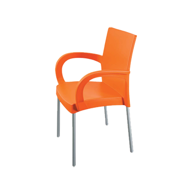 Пластмасов стол с подлакътник оранжев СУМЕЛА (HK-420)  -  Irak Plastik