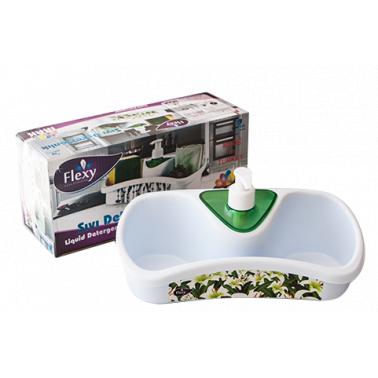 Пластмасов органайзер за мивка с декор (TE-500)   - Irak Plastik