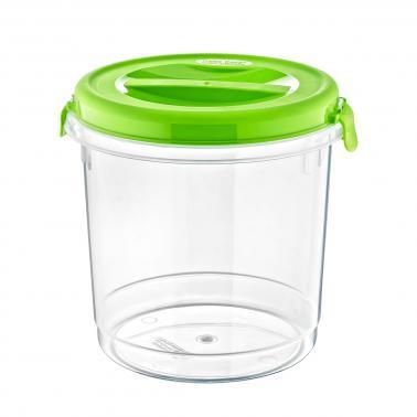 Пластмасова кутия контейнер кръгла с капак №2 3.75л. различни цветове (SA-705)  -  Irak Plastik