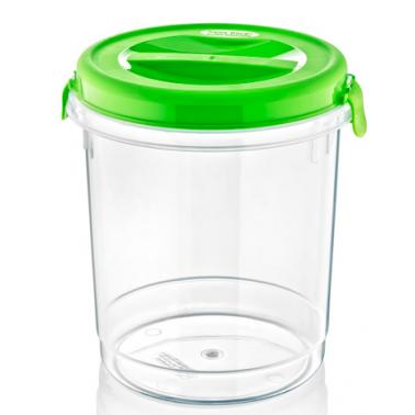 Пластмасова кутия контейнер кръгла с капак №3 6л. различни цветове (SA-710)  -  Irak Plastik