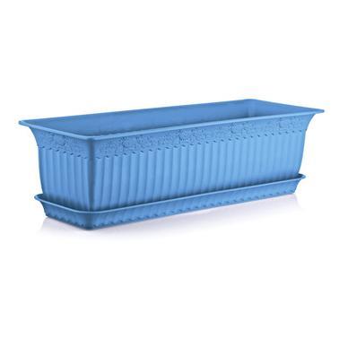 Пластмасова саксия АНТИК синя 60x20x17см 13лИП-(АВ-200)- Irak Plastik