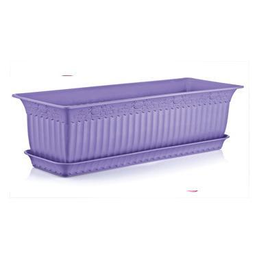 Пластмасова саксия АНТИК лилава 60x20x17см 13лИП-(АВ-200)- Irak Plastik