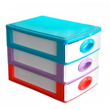 Пластмасово шкафче с 3 чекмеджета (DW-110)   - Irak Plastik
