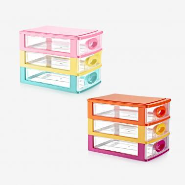 Пластмасово шкафче с 3 чекмеджета 27x19x20см (DW-110)   - Irak Plastik