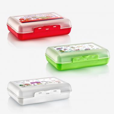 Пластмасова кутия за сандвичи малка различни цветове 18,5x14x5см (CM-710)   -  Irak Plastik