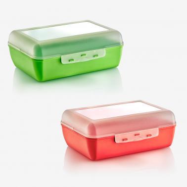 Пластмасова кутия за сандвичи средна 18,5x14x6см различни цветове (CM-715) -  Irak Plastik