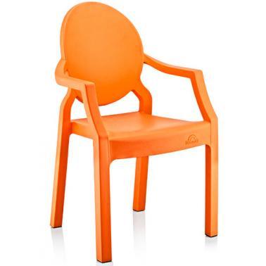Пластмасово детско столче с подлакътник оранжево 31x33x65смИП-(CM-410)- Irak Plastik