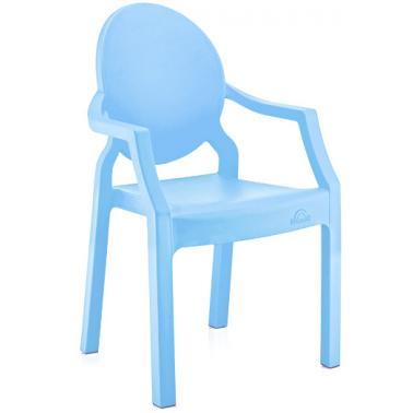 Пластмасово детско столче с подлакътник светло синьо 31x33x65см ИП-(CM-410)- Irak Plastik