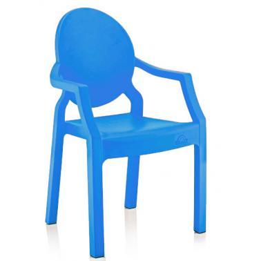 Пластмасово детско столче с подлакътник тъмно синьо 31x33x65см ИП-(CM-410)- Irak Plastik
