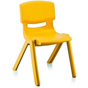 Пластмасово детско столче жълто42x34x58см ИП-(CM-505)- Irak Plastik