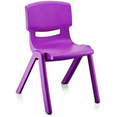 Пластмасово детско столче ДЖЪМБО тъмно лилаво42x34x58см ИП-(CM-505)- Irak Plastik