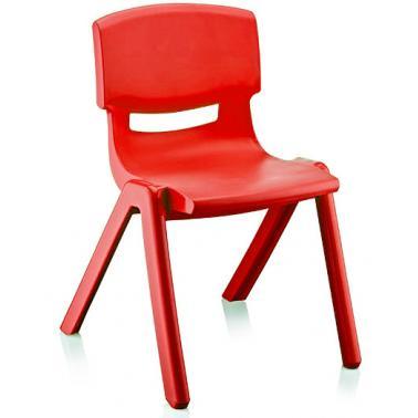 Пластмасово детско столче ДЖЪМБО червено42x34x58смИП-(CM-505)- Irak Plastik