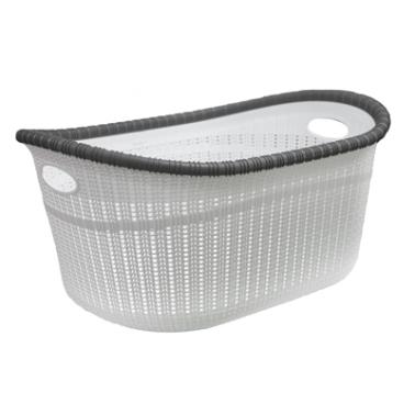 Пластмасов панер за дрехи 35л  бял (LA-530)  -  Irak Plastik