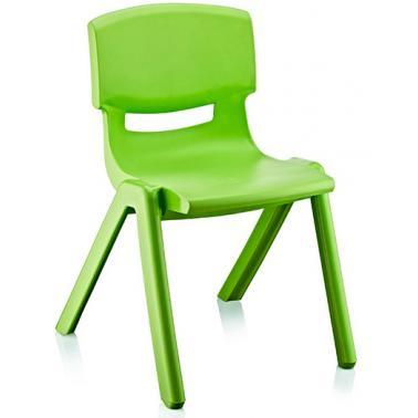 Пластмасово детско столче ДЖЪМБО зелено42x34x58смИП-(CM-505)- Irak Plastik