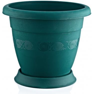Пластмасова саксия лукс N-40 ф33xh38см 19л зеленаИП- Irak Plastik