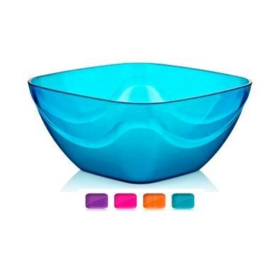 Пластмасова купа квадратна №0 700мл различни цветове (14x14x6.5)(BD-420)  -  Irak Plastik