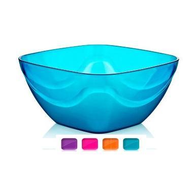 Пластмасова купа квадратна  №1 1.8л. различни цветове (BD-425)  -  Irak Plastik