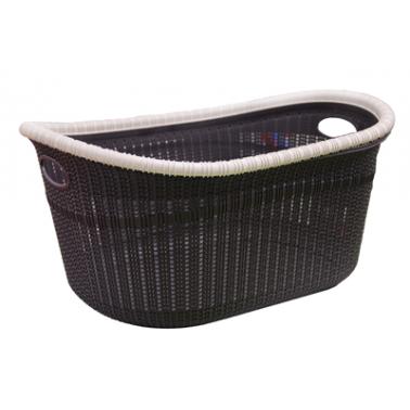 Пластмасов панер за дрехи 35л  виолетов  (LA-530)  -  Irak Plastik