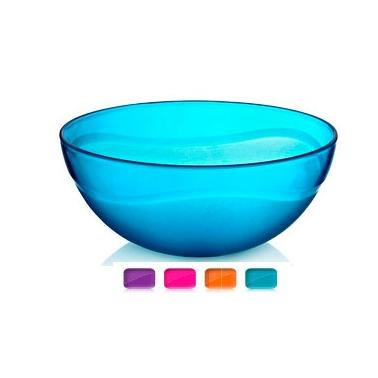 Пластмасова купа кръгла  №1 1.5л. 21x8.5см различни цветове (BD-400)  -  Irak Plastik