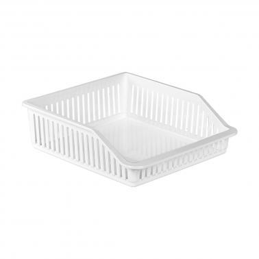 Пластмасов органайзер за хладилник плитък бял 26x31x9см 4,85л ИП-(BA-680)  - Irak Plastik