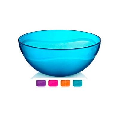 Пластмасова купа кръгла №2 3л. 25х9.5см различни цветове (BD-405)   -  Irak Plastik