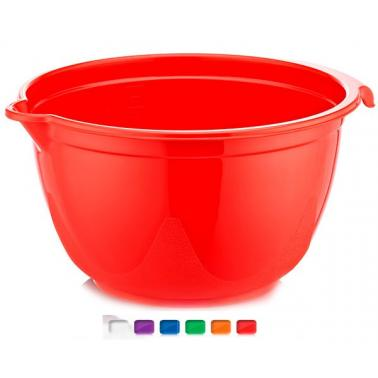 Пластмасова купа миксер 3.75л. различни цветове (BD-810)  -  Irak Plastik