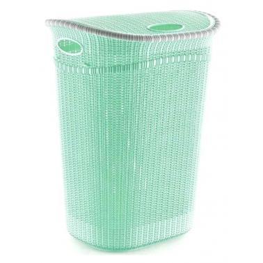 Пластмасов кошза пране с капак 52л зелен ИП-(LA-150)- Irak Plastik