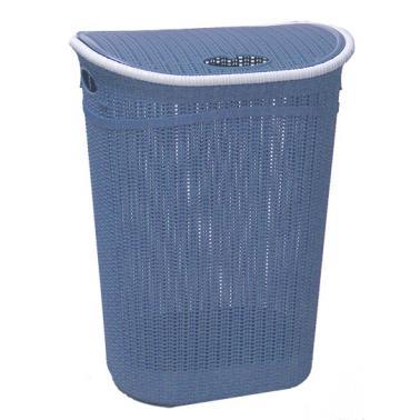 Пластмасов кош за пране с капак 52л син ИП-(LA-150)- Irak Plastik
