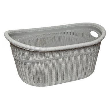 Пластмасов панер за дрехи 35л сив/бял ИП-(LA-530)- Irak Plastik