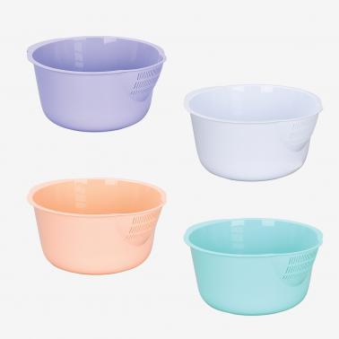 Пластмасова купа с цедка 3.6л. различни цветове (SG-215)  - Irak Plastik