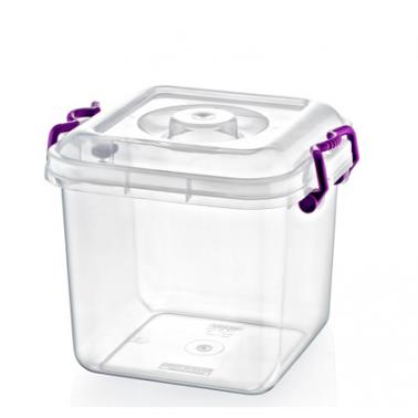 Пластмасова кутия контейнер квадрат 8л (25x25x14см) (SA-105)  -  Irak Plastik