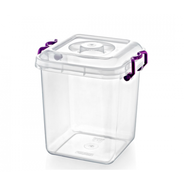 Пластмасова кутия контейнер квадрат 21.25л (31x31x30.5см) (SA-115)  -  Irak Plastik
