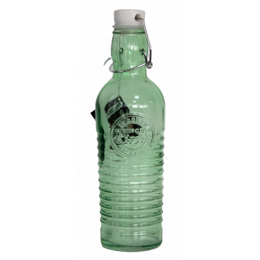 Стъклена бутилка с клипс 500мл OLD FASHIONED-GREEN-(339270-G) - Horecano