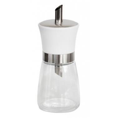 Стъклена захарница с дозатор и бяла капачка 175мл TOP-(338145T-1-W)