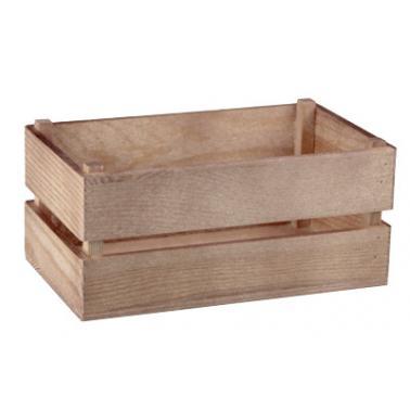 Дървена касетка 17,6x10,2xh8см натурал OLD FASHIONED-(HC-32141)