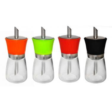 Стъклена захарница с дозатор и цветна капачка (338145T-1) TOP