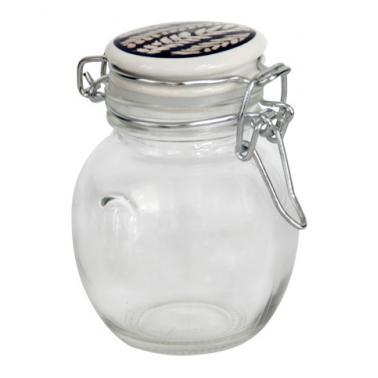 Стъклено бурканче за подправки с керамично цветно капаче 100мл TOP- (339193)