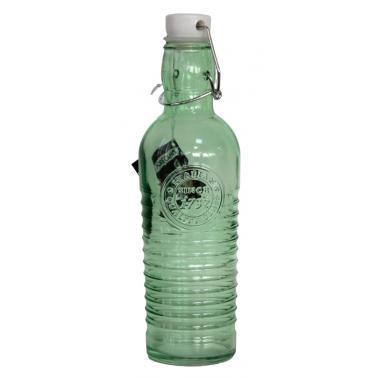 Стъклена бутилка  с клипс зелена 1л OLD FASHIONED-GREEN- (339269-G) - Horecano