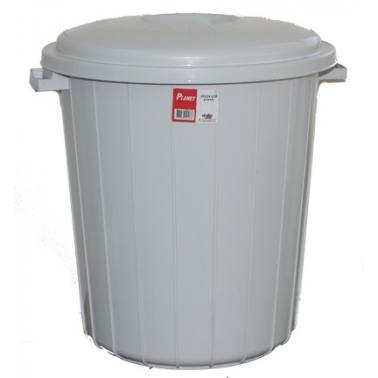 Пластмасов кош за отпадъци 70л. СИВ 40x40x52см. PLANET-(UP 106) (C)