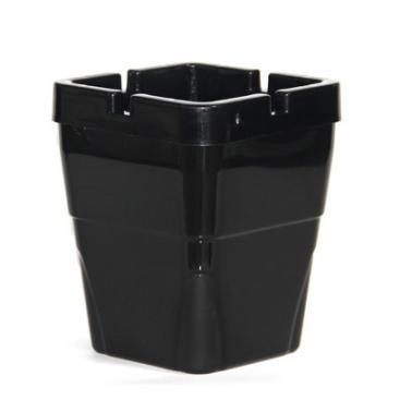 Пластмасов пепелник ветроустойчив квадратен  8x8xh10см HORECANO