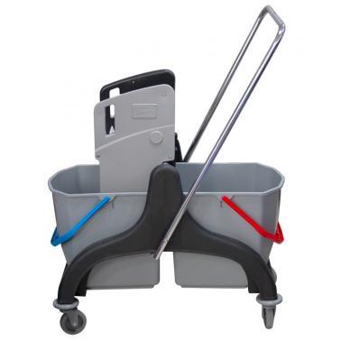 Kоличка за почистване с двe кофи черна HUNTER -(PLSTRL1-BS)