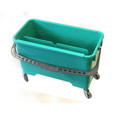 Пластмасова кофа правоъгълна за стъклочистачка с колела 20л. (CK103)-UP - Horecano