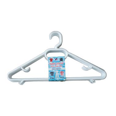 Пластмасова закачалка за дрехи бяла FOBI LIFE - Horecano
